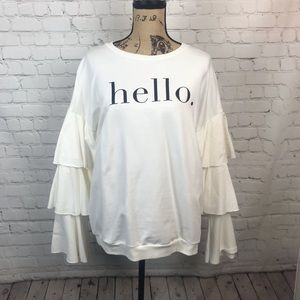 [Cents of Style] Hello Ruffled Sleeve Blouse